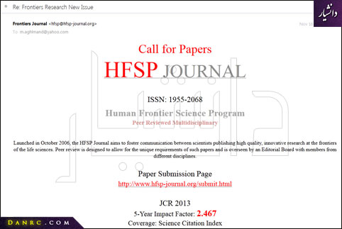 HFSP JOURNAL  ISSN: 1955-2068