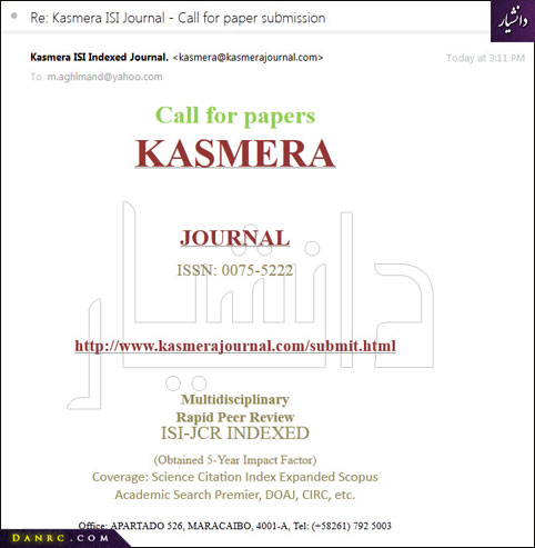 KASMERA JOURNAL - ISSN: 0075-5222