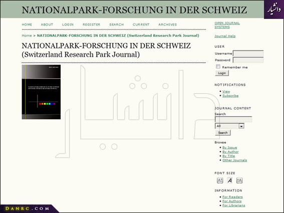 NATIONALPARK-FORSCHUNG IN DER SCHWEIZ (Switzerland Research Park Journal)
